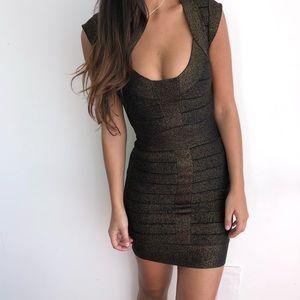 French Connection black bronze bandage dress 4